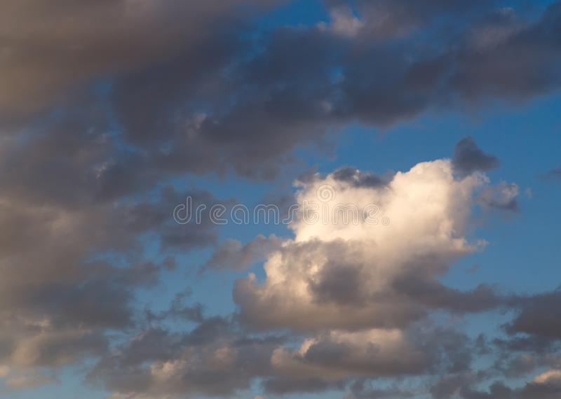 Clouds in the sky at sunset royalty free stock photos