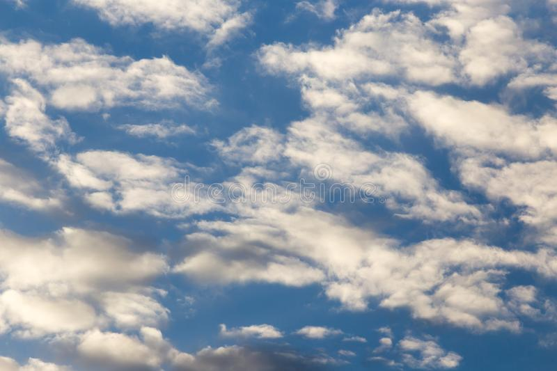 Clouds in the sky at sunset royalty free stock photography