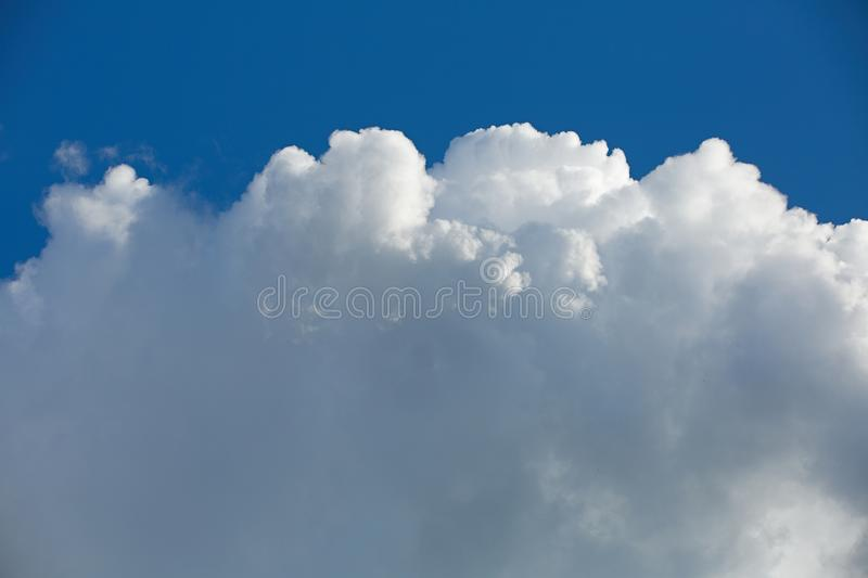 Clouds in the sky when the weather changes. Picturesque textured clouds in the sky at the daytime royalty free stock images