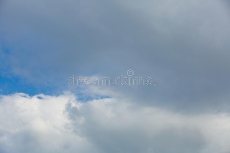 Clouds in the sky when the weather changes. Picturesque textured clouds in the sky at the daytime royalty free stock photos