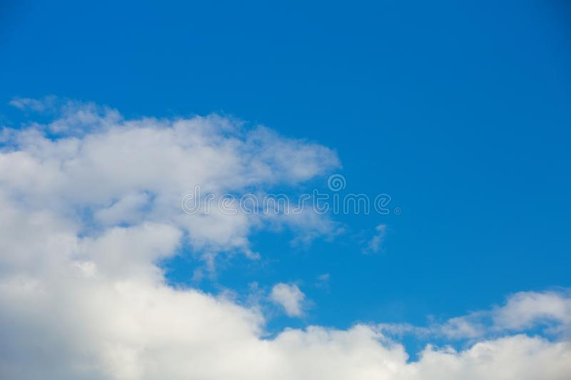Clouds in the sky when the weather changes. Picturesque textured clouds in the sky at the daytime royalty free stock photo