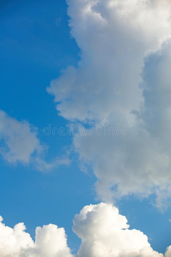 Clouds in the sky when the weather changes. Picturesque textured clouds in the sky at the daytime stock photography