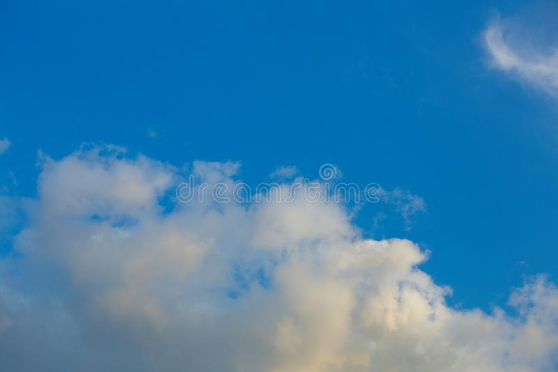 Clouds in the sky when the weather changes. Picturesque textured clouds in the sky at the daytime stock images