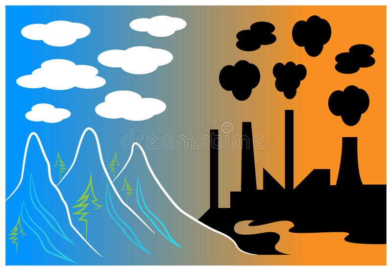 Clouds and smoke stock illustration