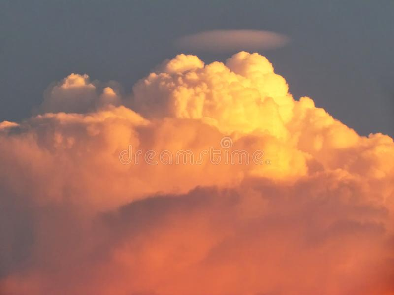 Clouds stacked layers are shaped by the imagination in the sky stock photography