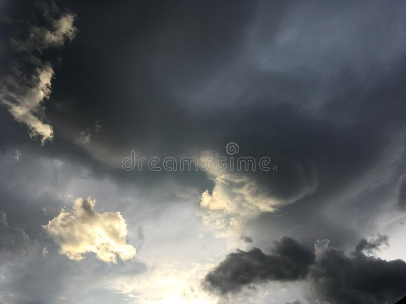 Clouds. Storm, light, dark, contrast stock image