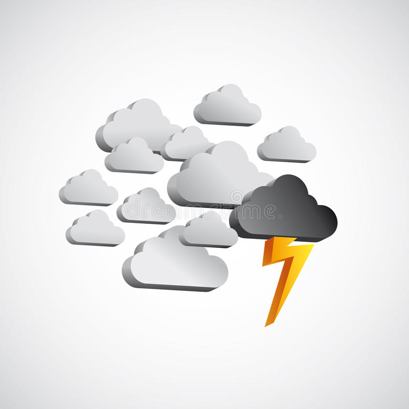Clouds, storm, lightning