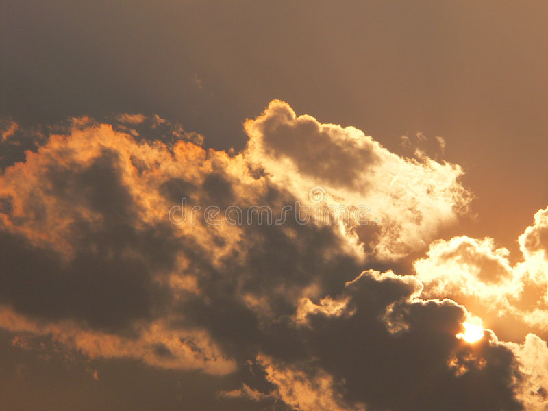 Download Clouds and sun stock photo. Image of begenning, hideandseek - 3380702