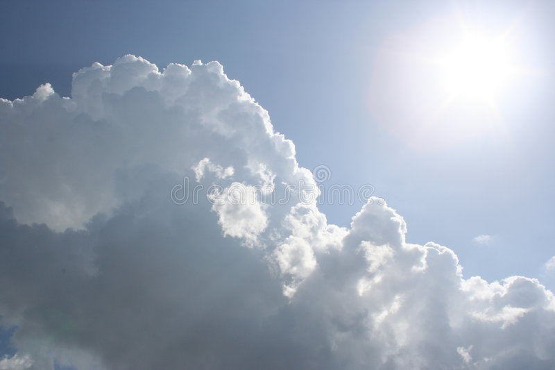 Clouds and the Sun royalty free stock photos
