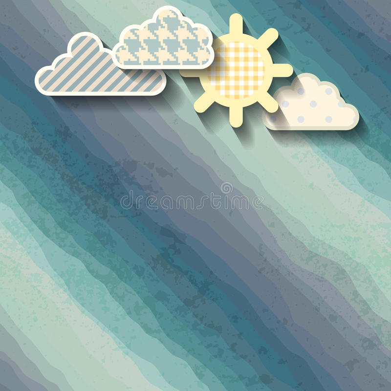 Clouds and sun royalty free illustration