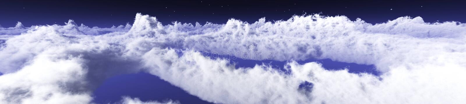 Over the clouds environment map. In the clouds, the sun in clouds, over the clouds environment map royalty free stock photography