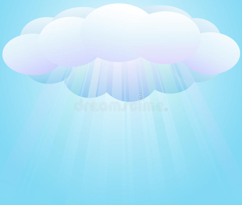 clouds sunbeams royaltyfri illustrationer