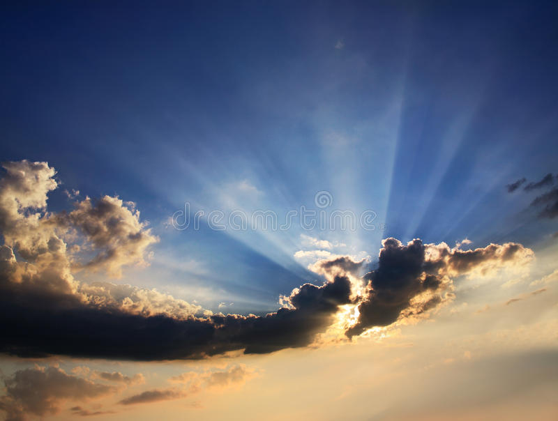 Download Clouds And Sunburst stock image. Image of nature, cloudy - 18550485