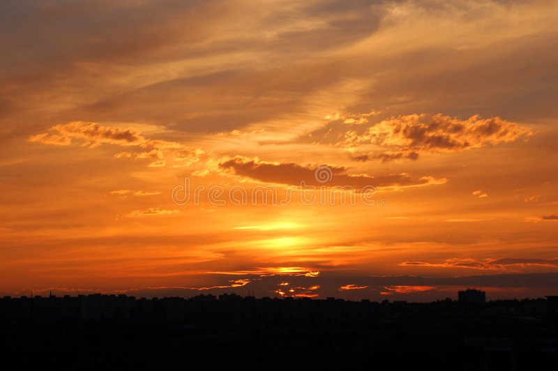 Clouds and sunset royalty free stock photo