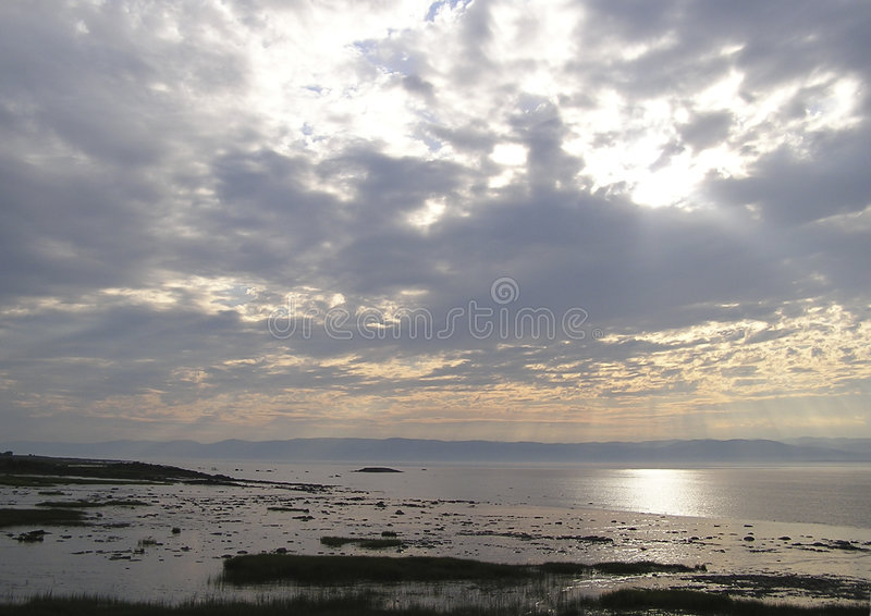 Download Clouds at sunset stock image. Image of stroll, sunset, coast - 73805