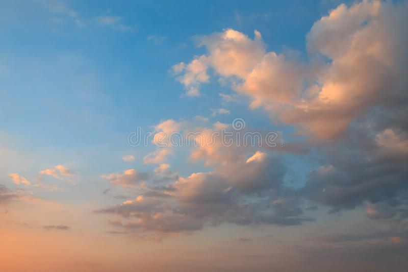 The clouds during sunset royalty free stock image