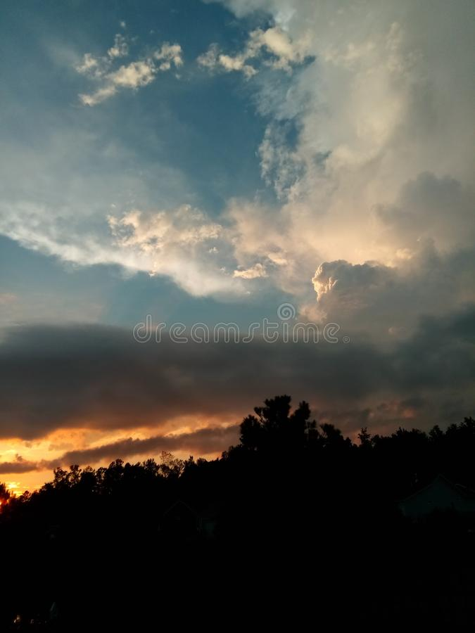 Clouds at sunset royalty free stock image