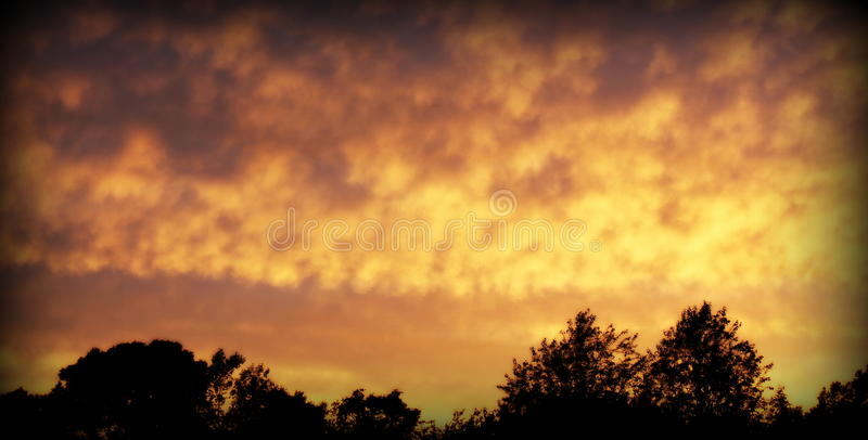 Clouds at Sunset royalty free stock photography