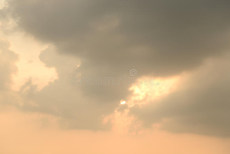 Clouds at sunset. Clouds at sunset, may be used as background royalty free stock images