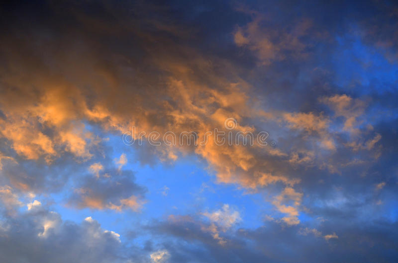 The clouds. Sunset, the sky clouds cloud atmosphere natural scenery photography photography background sunrise sunset day Evening glow royalty free stock photos