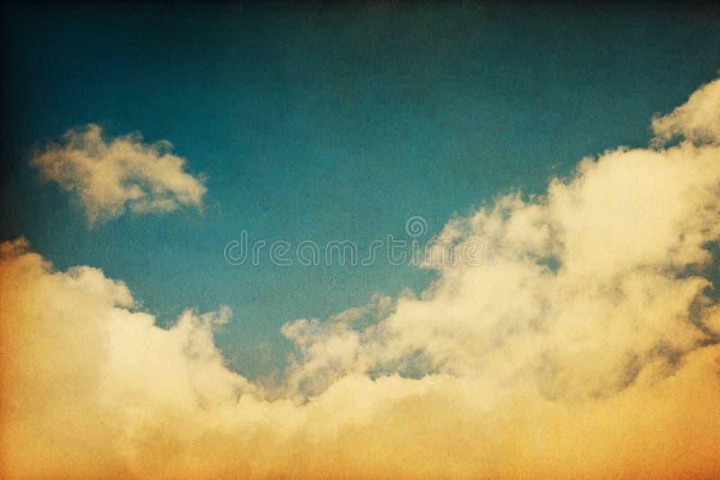 clouds tappning royaltyfria foton