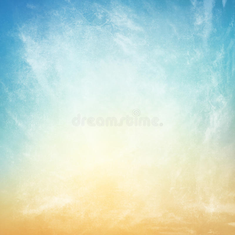 Clouds on a textured vintage paper background royalty free illustration