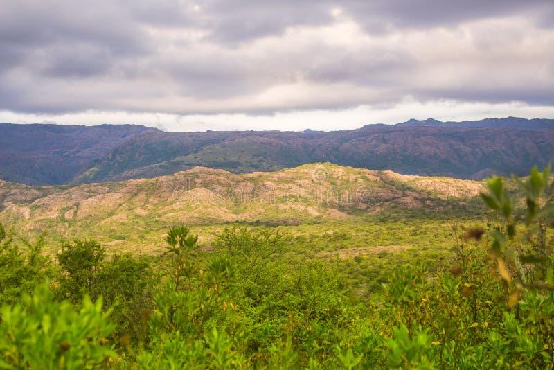 Clouds in Translasierra`s valley stock image