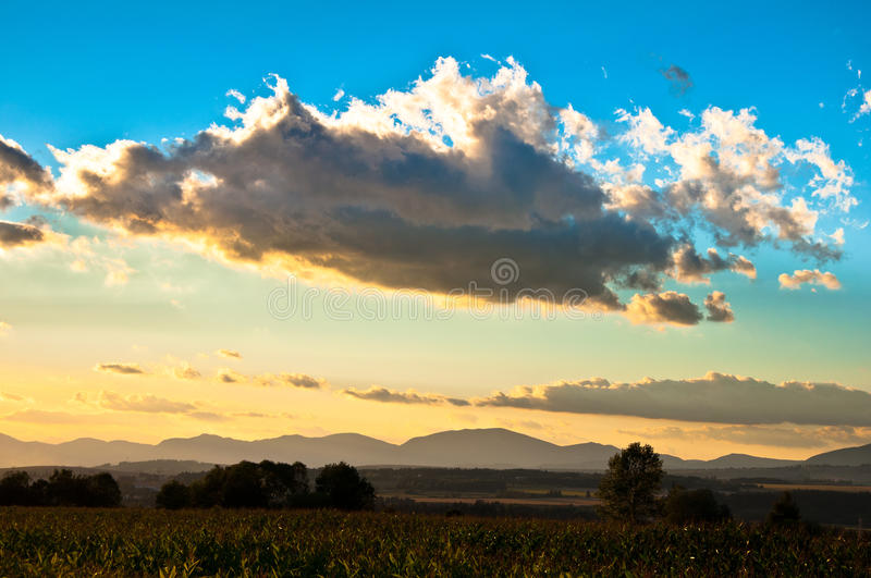 Download Clouds up country stock image. Image of summer, landscape - 34441335