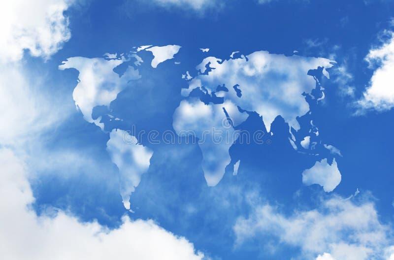 clouds världen royaltyfri bild