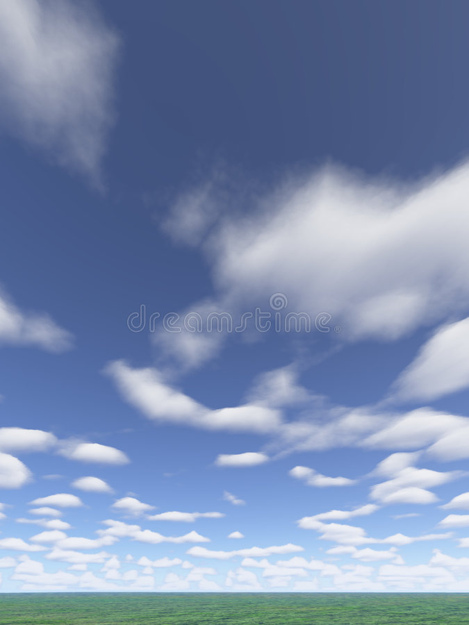 clouds vertical vektor illustrationer