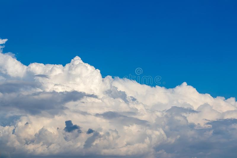 Clouds white and cloudy in the blue sky. royalty free stock image