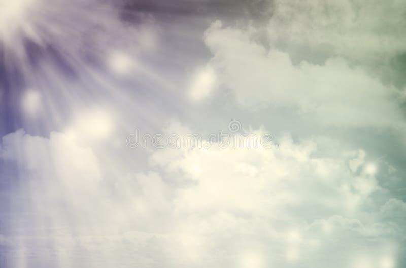 cloudscape光束 向量例证