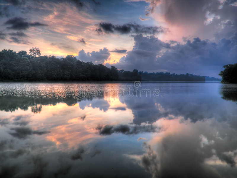 cloudscape复杂 免版税库存图片