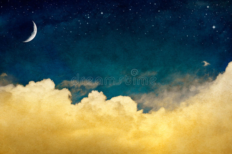 cloudscape月亮 图库摄影