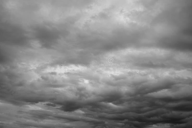 Cloudscape,在天际的阴暗云彩 库存照片