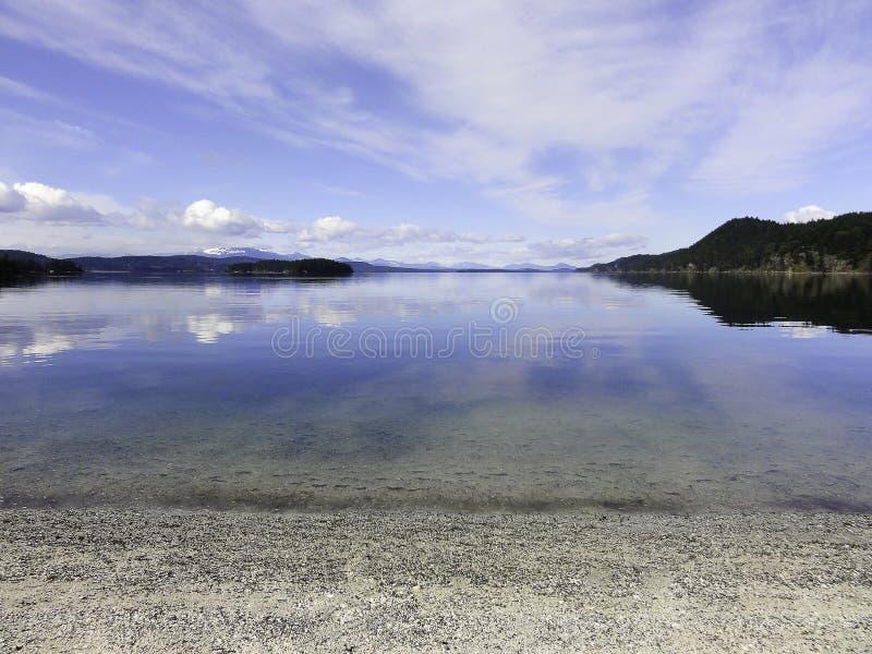 Cloudscape με την αντανάκλαση στο νερό στοκ φωτογραφίες με δικαίωμα ελεύθερης χρήσης