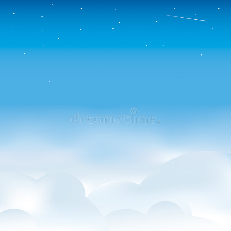 Cloudscape stock illustratie