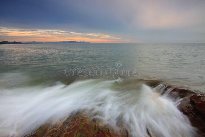 Φυσική άποψη Cloudscape κατά τη διάρκεια του ηλιοβασιλέματος στοκ φωτογραφία με δικαίωμα ελεύθερης χρήσης