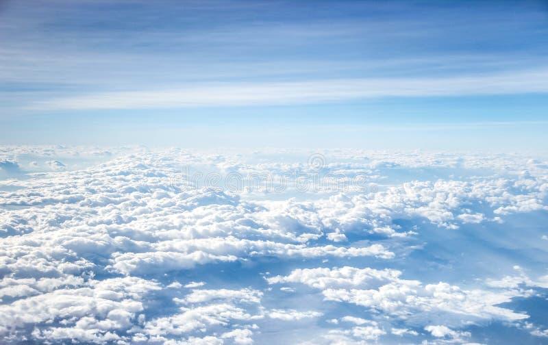 εναέρια όψη cloudscape στοκ εικόνες