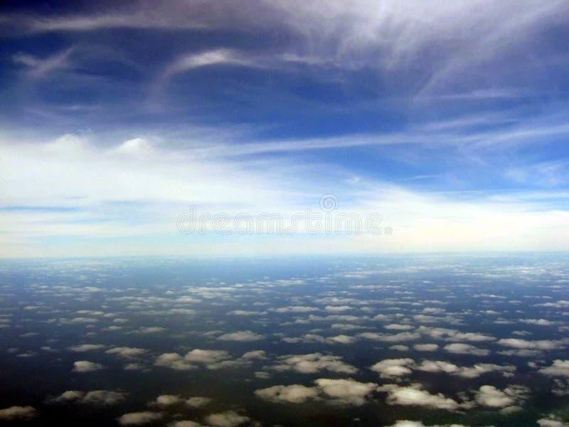 Cloudscape aéreo escénico foto de archivo