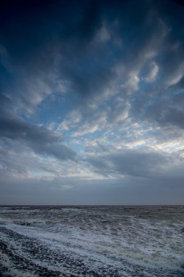 Cloudscape au-dessus de la mer image libre de droits