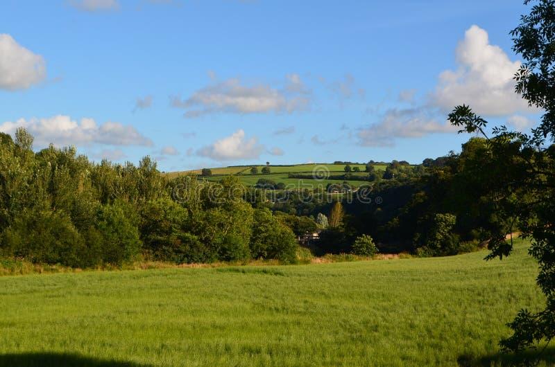 Cloudscape au-dessus des champs de Devon du nord photo libre de droits