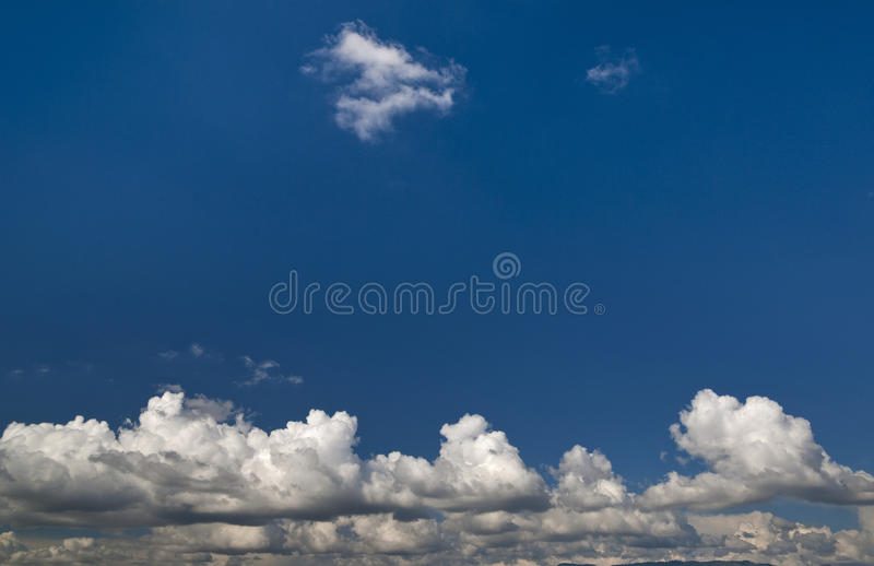 Cloudscape and blue sky royalty free stock photos