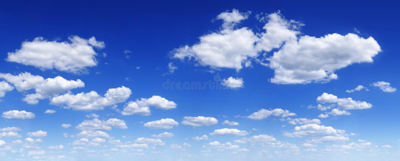 Cloudscape - ciel bleu et nuages photo stock