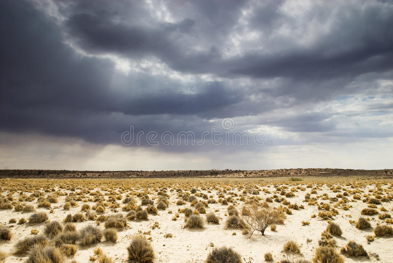Cloudscape de Kalahari foto de archivo