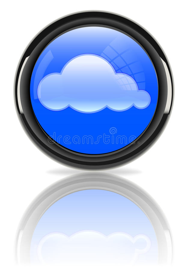 Cloudscape In Glossy Sign Royalty Free Stock Images