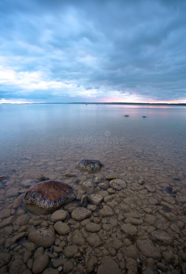 cloudscape jezioro michigan zdjęcie royalty free