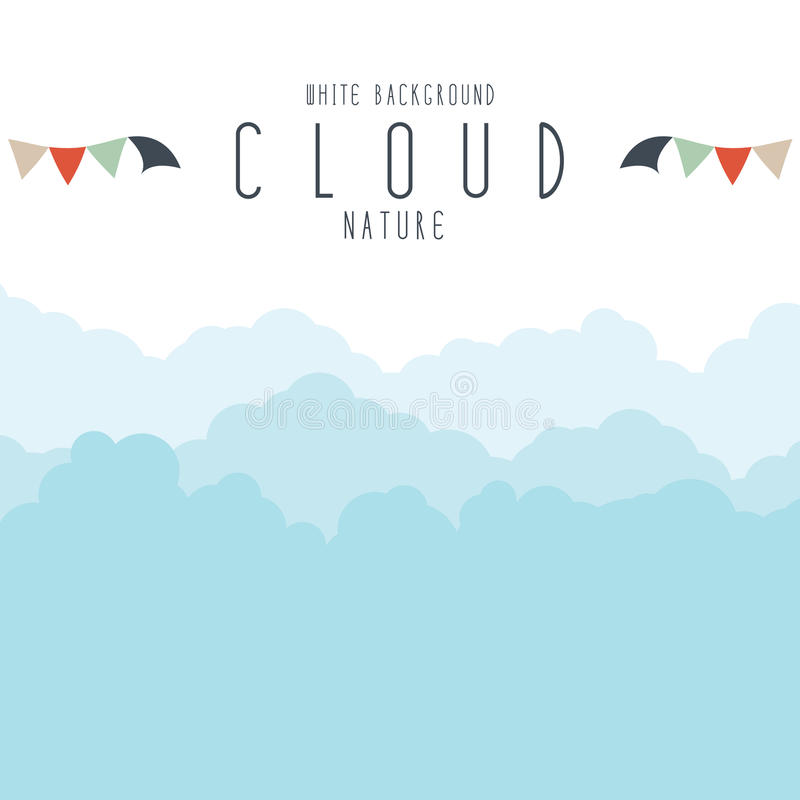 Cloudscape lub mgła royalty ilustracja