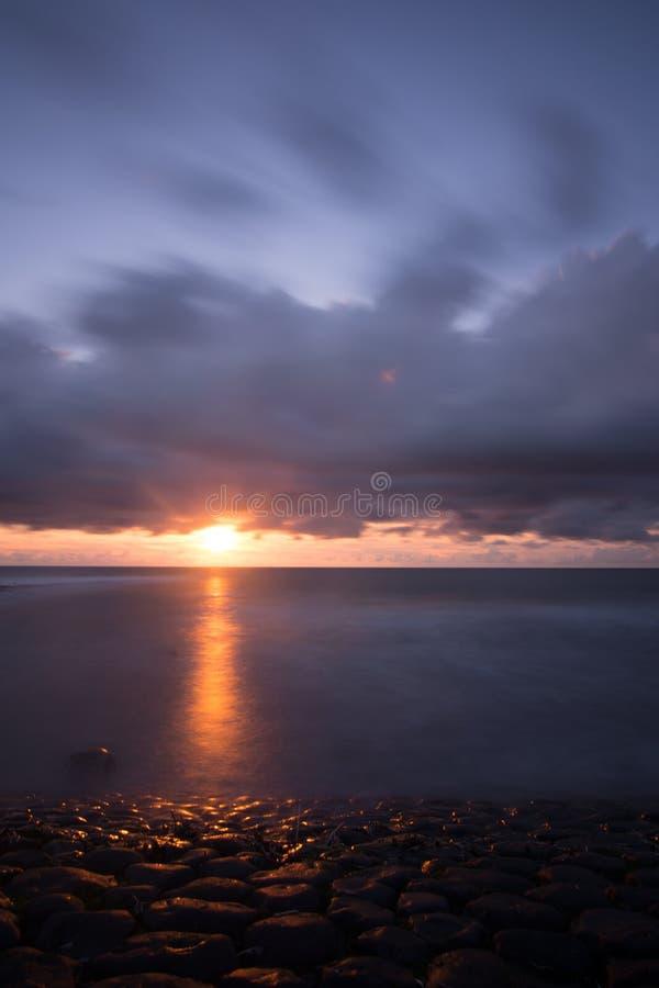 Cloudscape nad holenderski morze obraz royalty free