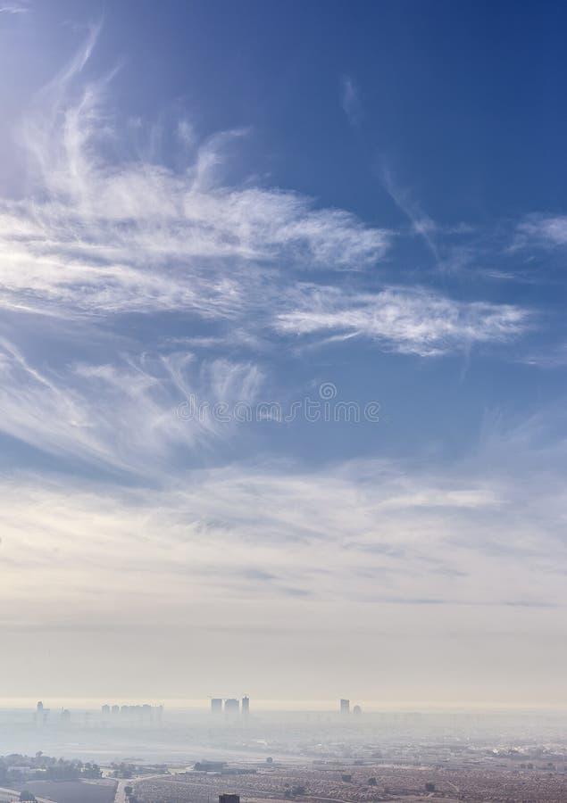 Download Cloudscape over Dubai city stock image. Image of nature - 35690707